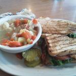 BLT and Chicken Dumpling Soup.