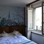 cute room with paintd wall