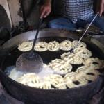 Jalebis cooking in desi ghee