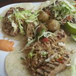 Fish tacos- Tuna Steak (dressed up)
