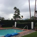 The grounds at Hacienda at Warm Sands on 3/12/2014.  Note the rain clouds.  It was unheard of😄