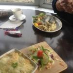 fish pie and sardine lunch
