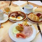 朝食メニューは豊富