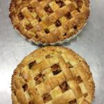 apple pie baking at the farm