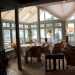 Dining area overlooking harbour