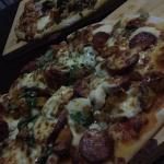 Roasted veg pizza & roasted pumpkin pizza