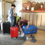 Staff will clean your luggage before taking into the ryokan. They even wipe the wheels