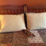 one of the whimsical touches in the Victoria Suite