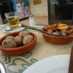 patata and potatoe with herbs