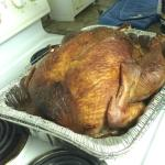 Our cooked Turkey purchased at Big Fish
