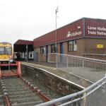 Train station down road