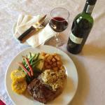 fillet steak with raka red