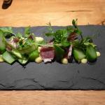Sapanish ham with Australian asparagus