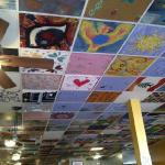 Ceiling inside Pita Vera