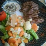 Bavette et ses petits légumes