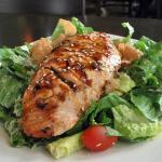 Salmon Teriyaki Caesar Salad