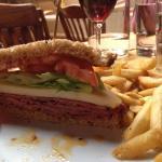 Amazing pastrami and swish sandwich!!