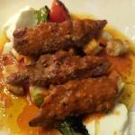 #55 - Lamb and veal kabab with potatoes and yogurt sauce