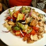 The Italian Salad was huge, with roasted red peppers and so much more!