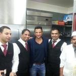 With Peter Andre