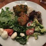A few of the Salad offerings and that great Latke