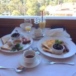 Scrumptious Breakfast with a view at Jamison Views Restaurant