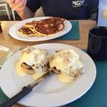 crab Cakes Benedict & Buttermilk Pancakes