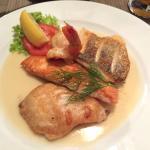 Merluzzo e salmone buonissimo