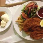 The chicken schnitzel & sticky date
