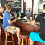 Diving dudes in their natural habitat - the bar area