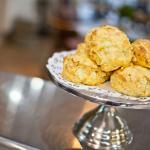 Freshly baked cheese scones