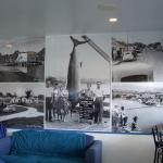 old Whitianga town photos on the wall