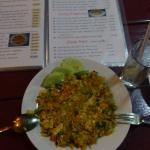 Curry fried rice with chicken