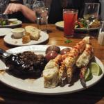 Sirloin and King Crab legs