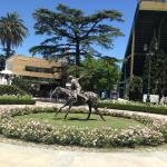 Statue at the entrance of the Campo Argentino de Polo de Palermo