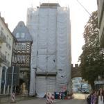 Christo was here! Nikolaiplatz, rechts unterm Torbogen Hotel