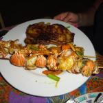 lobster kebobs curried conch jerk pork