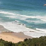 View vom Paraglider: auf Wilderness