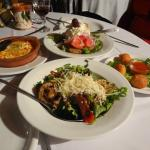 two salads and two starters