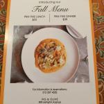Fall prix fixe menu