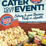 Be the hit of your next event by using Jersey Mike's!