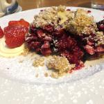 Mixed berry crumble- mouthwatering!