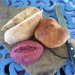 Delicious and unusual bread selection