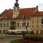 Maribor - Restavracija Rotovz - view from the roundabout