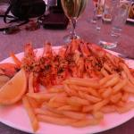 Mouthwatering prawns