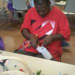 Making rag dolls!