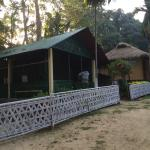 Tents in the eco-camp