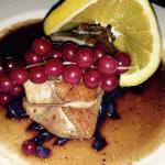 Duck with orange and red cabbage
