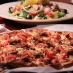 Thin crust Pizza Rustica & Old World Classic salad