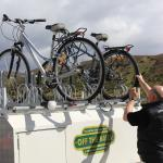 Nick unloading my bike for the Central Otago Rail Trail